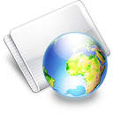 Folder Online earth Icon