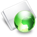 Folder Online lime Icon