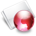 Folder Online strawberry Icon