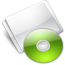 Folder Optical Disc lime Icon