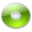 Optical Disk Aqua lime Icon