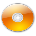 Optical Disk Aqua tangerine Icon