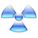 Radioactive aqua Icon