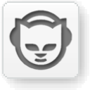 Napster White Icon