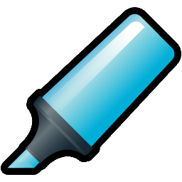 Highlighter Blue Icon