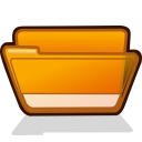 folder orange open Icon