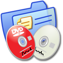 Folder Blue DVDR & CDR Icon