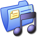 Folder Blue Music 3 Icon