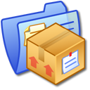 Folder Blue Stuff Icon