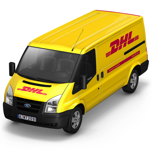 DHL Van Front Icon Free Download As PNG And ICO Formats