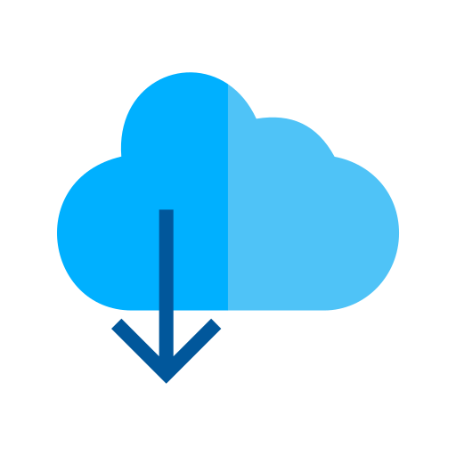 175 - Cloud with downward arrow Icon