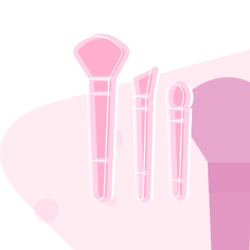 Makeup brush suit Icon