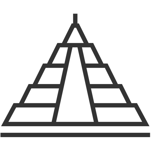 Architecture pyramid Icon