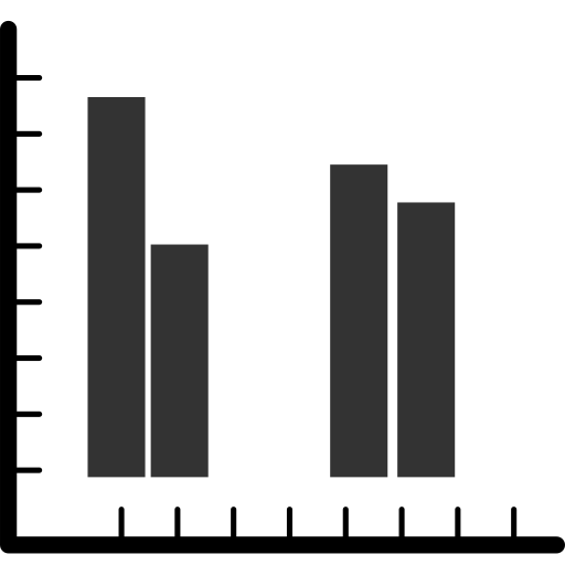 Multidimensional histogram Icon