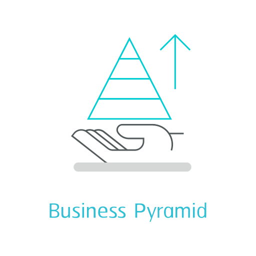 Business pyramid Icon