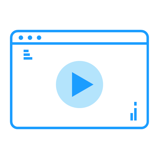 Business station Icon Library Video Teaching Icon