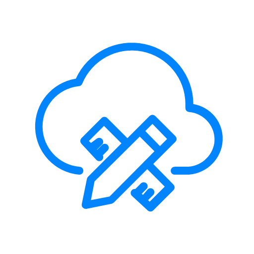 Home cloud design system Icon