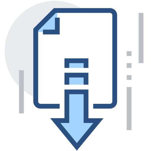 Download, transfer, transfer files Icon