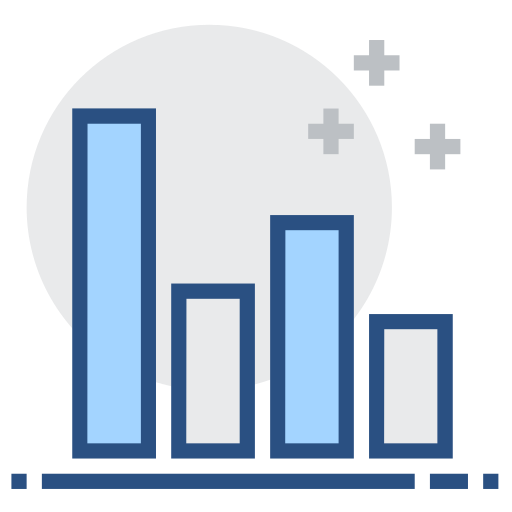 Performance, histogram, financial analysis Icon