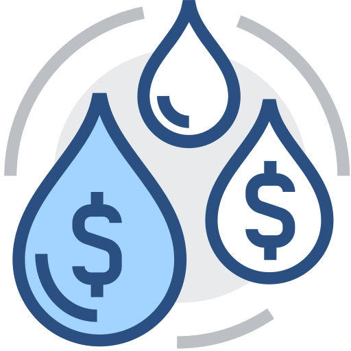 Water, money, value Icon