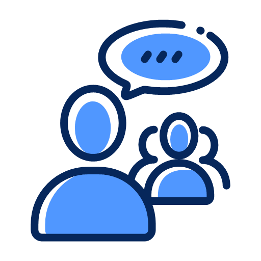 management of meetings Icon