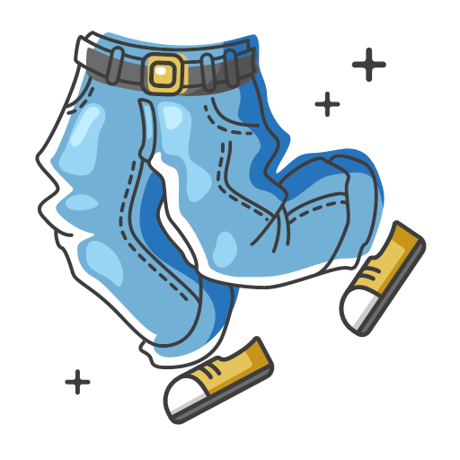 Old school jeans Icon