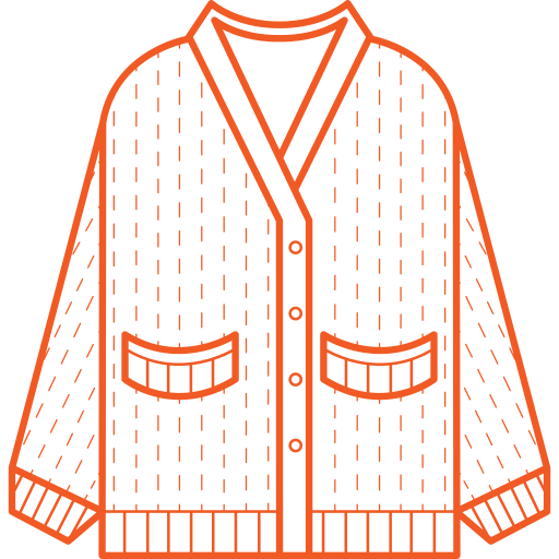 Knitted cardigan Icon