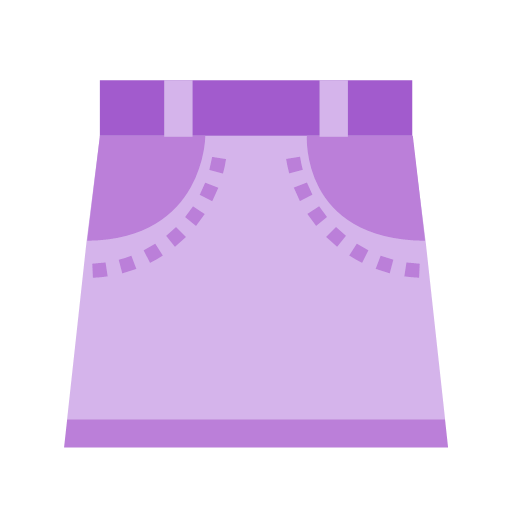Purple skirt Icon