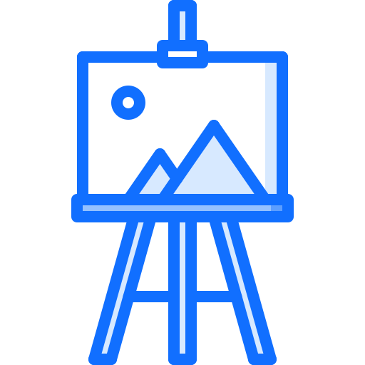 41 easel, picture, p Icon