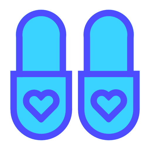 Multicolor thread - slippers Icon