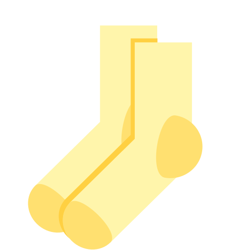 Clothing icon solid color version of socks Icon