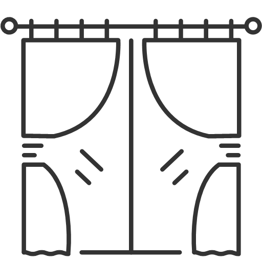 Window curtains Icon