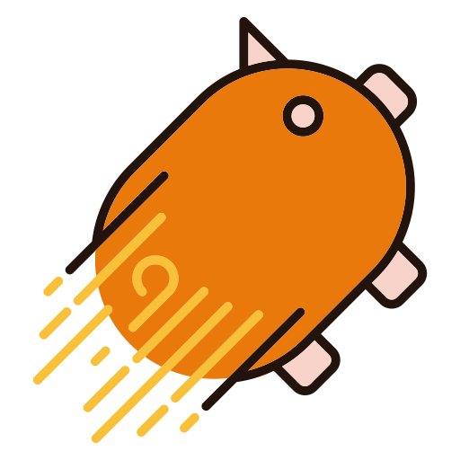 Fast Piggy bank Icon