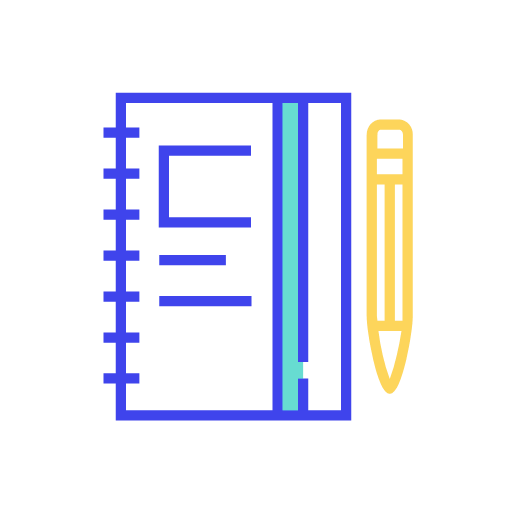Closed notebook Icon