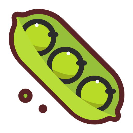 Green soya beans Icon