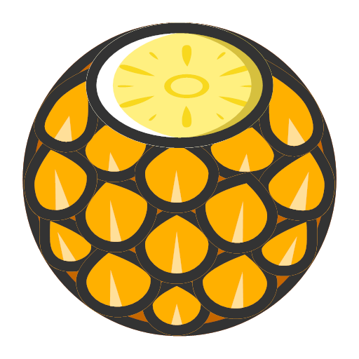 Pineapple - sweet and fresh Icon