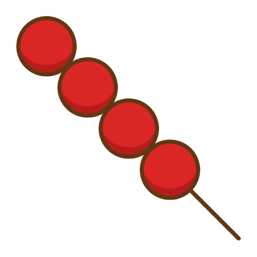 Tomatoes on sticks Icon
