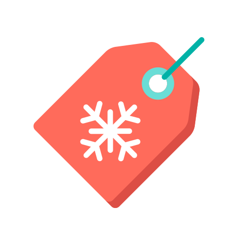 Christmas label Icon