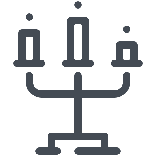 Halloween candlestick Icon