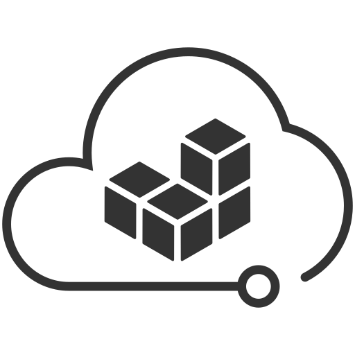 Cloud storage big data Icon