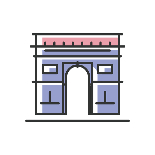 Tourism - triumphal arch Icon