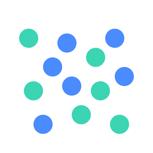 MULTISERIES scatter Icon