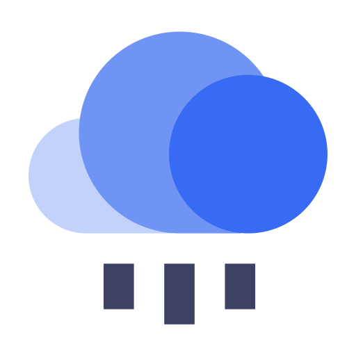 Cloud below cloud Icon