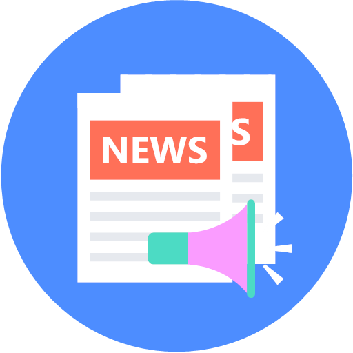 Multiple news editing and broadcasting Icon
