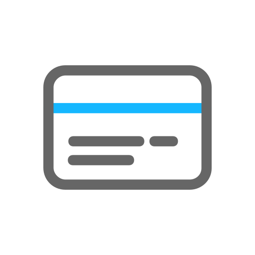 Paid in bank card Icon