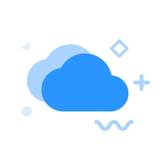 MBE style multi color icon cloud disk Icon