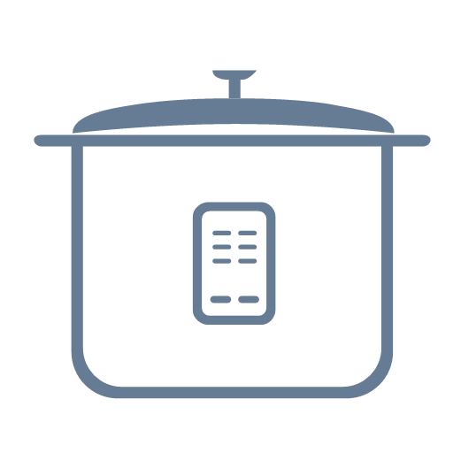 Daily household appliances electric rice cooker Icon