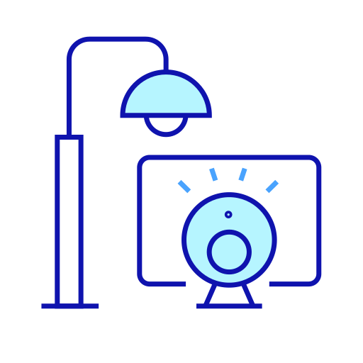 Street lamp intelligent monitoring system Icon