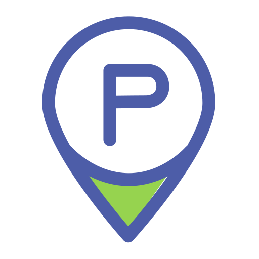 Two color parking service Icon