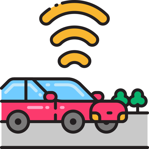 connected vehicle Icon